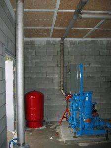 Commercial Booster Pump Station control room in Chilliwack, BC by AJ Pumps