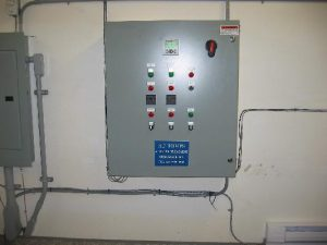 Power control panel for Commercial Water Treatment System at Harrison Resort by AJ Pumps