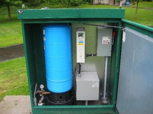 Pressure tank and water control centre for Mill Lake water spray park in Abbotsford, BC by AJ Pumps